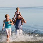 Family fun,sea and sun