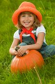 stock photo of little kids  - Little farmer - JPG