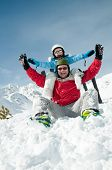 foto of winter sport  - Fun in snow - JPG