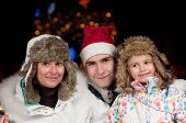 Family celebrate Christmas