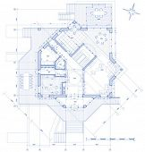 house plan: vector blueprint