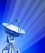 satellite dishes antenna (doppler radar) & blue technology background