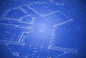 vector fundo abstrato arquitetura: planta de casa - blueprint