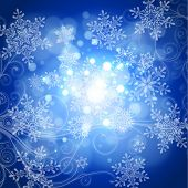 magic lights, snowflakes & floral ornament