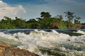 Violent rapid Bujagali falls in upper of Nile