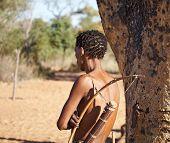 Bushman hunter, Kalahari Desert, Namibia