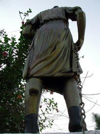 foto of muharram  - A roman style metal statue at the gate of historic chota imambada of lucknow - JPG