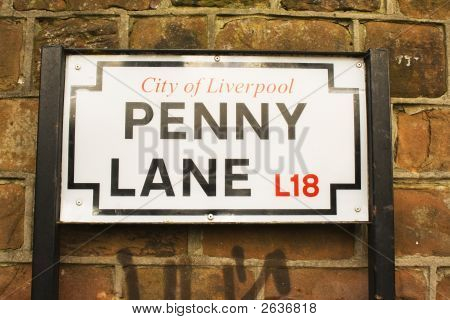 Penny Lane Street Sign