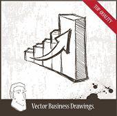 Vector illustration. Graph.