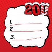 EPS10 vector new 2011 year wish list