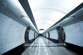 modern subway station Megdunarodnaya. moscow. russia.