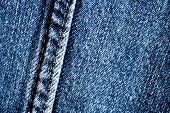 Denim abstract background, blue jeans texture