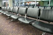 Row Of Airport Chairs