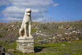The marble lions of Delos  are replicas of the originals that are in the museum on the island of Del