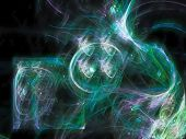 Abstract Digital Fractal Design Decorative, Contrast, Style, Poster poster