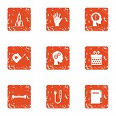 Future Strategy Icons Set. Grunge Set Of 9 Future Strategy Vector Icons For Web Isolated On White Ba poster