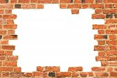 stock photo of orifice  - Brick frame - JPG