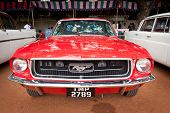 CHENNAI - INDIA - JULY 24:Ford Mustang (retro vintage car) on Heritage Car Rally 2011 of Madras Heri
