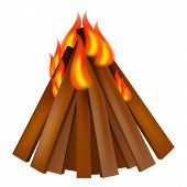 Tourist Fire Camp Icon. Realistic Illustration Of Tourist Fire Camp Vector Icon For Web Design poster