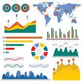 Visualization Infographic. Flat Illustration Of Visualization Vector Infographic For Web Design poster