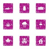 Spontaneous Icons Set. Grunge Set Of 9 Spontaneous Icons For Web Isolated On White Background poster
