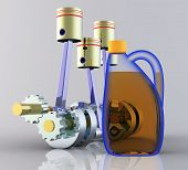 Motor oil and the piston engine