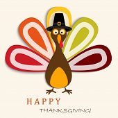 Happy Thanksgiving Card With Happy Thanksgiving Turkey poster