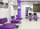 luxurious interior of a beauty salon