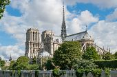 Notre-dame De Paris Cathedral On A Sunny Day In Summer, Paris, France poster