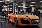 Essen, Deutschland nov 29: Audi r8 Spyder gezeigt auf der Essen motor show in Essen, Deutschland, am November