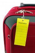 travel case and destination lable