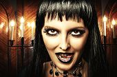 Brunette Woman Witch, Gothic Make-up
