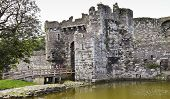 A Beaumaris Castle Moat On Anglesey, Wales