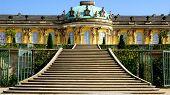 The Sanssouci palace in Potsdam, Germany.