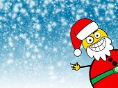 Santa Clause Winter Background