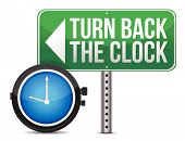 picture of repentance  - roadsign with a turn back the clock concept - JPG