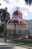 Dome Of A Building And Rotunda  In Cienfuegos City Centre, Cuba