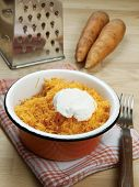 Grated Carrot With  Sour Cream