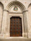 image of vicenza  - Door at front facade of the duomo cathedral in Vicenza Italy - JPG