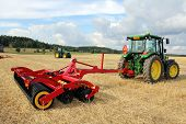 Vaderstad Carrier 400 Stubble Cultivator And John Deere Tractor