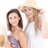 Happy Friends Enjoying The Summer