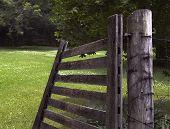 Open Wood Gate