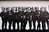 Los Angeles - AUG 15:  Expendables 2 Backdrop at the