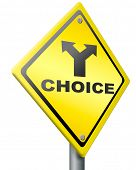 choice make decision indecisive choose direction road sign conceptual hesitation and inconclusive to