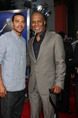 Los Angeles - AUG 16:  James Pickens Jr, Jesse Williams arrive at the