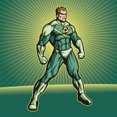 Recycle Hero (no cape). File is editable. Put your logo on his chest!