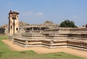 picture of vijayanagara  - watchtower at the Cacred Center of Vijayanagara at Hampi a city located in Karnataka South West India - JPG