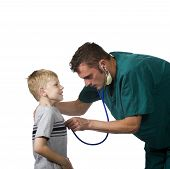 Doctor Examing Young Patient