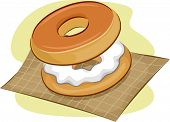 stock photo of bagel  - Illustration of Bagels - JPG