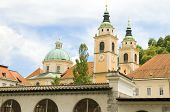 Ljubljana Cathedral St. Nicholas Church Slovenia Europe In Old Town